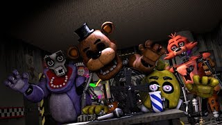 [SFM/FNAF] FNAF 6 Ultimate Custom Night Willam Afton And All Animatronics Jumpscares  😱
