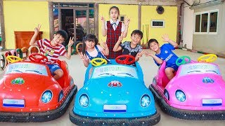 Kids Go To School | Chuns and Friends Have Fun At The Amusement Park Children