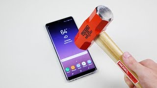 Samsung Galaxy Note 8 Hammer & Knife Scratch Test