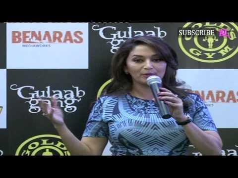 Madhuri Dixit Promotes Gulaab Gang at Gold's Gym