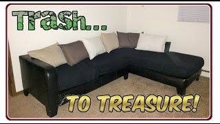 Trash To Treasure! Recycling a Discarded Sectional Couch