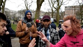 **Must Watch** P1 - Muslims telling me!? Mansur vs Christian guy   Speakers Corner   Hyde Park