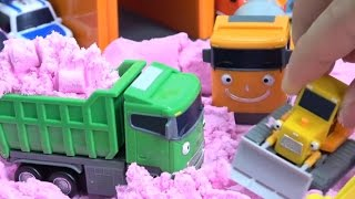 Tayo the Little Bus in Color Sand & Learn Colors / How to Make Sand