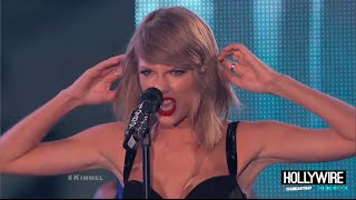 Taylor Swift 'Out Of The Woods' LIVE Performance - Jimmy Kimmel!