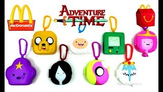 2017 McDONALD'S ADVENTURE TIME HAPPY MEAL TOYS FULL WORLD SET 8 ASIA EUROPE KIDS COLLECTION UNBOXING