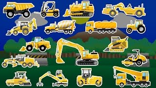 Learning Construction Vehicles - Trucks and Diggers - Children