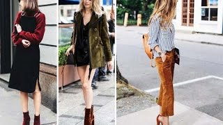 2017 Modası : Kadife Kıyafet Kombinleri