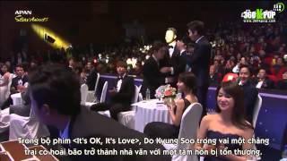 vietsub 141115 best male newcomer award do kyungsoo speech exo team