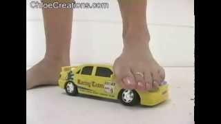 Barefoot latin car crush