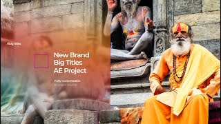 Big Titles After Effects Templates