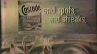 CASCADE Detergent TV Commercial - 1960