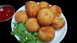 Potato Croquettes Recipe || Mashed Potato Croquettes || Tea time snack