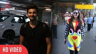 Urvashi Rautela and Darshan Raval Spotted at International Airport