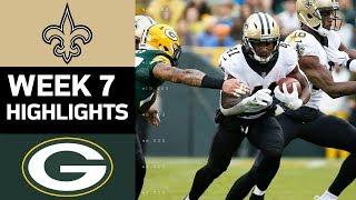 Saints vs. Packers   NFL Week 7 Game Highlights