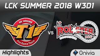 SKT vs KT Highlights Game 2 LCK Summer 2018 W3D1 SK Telecom T1 vs KT Rolster by Onivia