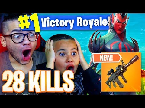 NEW THERMAL WEAPON COMING TO FORTNITE BATTLE ROYALE 28 KILLS NEW SKIN IS WILD 9 YEAR OLD KID 😱