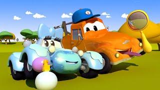 Bebé Katy - El lavado de Autos de Tom La Grúa 🛀 Dibujos animados de carros
