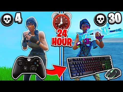 Switching From Controller to Keyboard and Mouse For 24 Hours Fortnite Progression