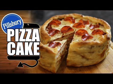 Pillsbury Pepperoni Pizza Cake Recipe HellthyJunkFood