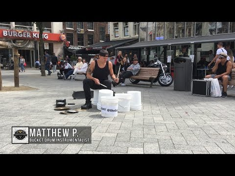 Xxx Mp4 Matthew Pretty The Bucket Boy From Las Vegas Performing At The Leidse Square In Amsterdam 2017 3gp Sex