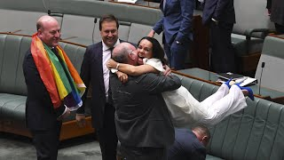 The moment same-sex marriage is made official in Australia