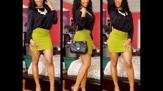 OOTD: Olive Mini Skirt