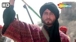 Amitabh Bachchan accepts the challenge | Sridevi | Khuda Gawah | Romantic action scene