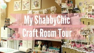 My Beautiful Shabby Chic CraftRoom Scraproom  Tour | Workspace | Stress buster | Scrapbook