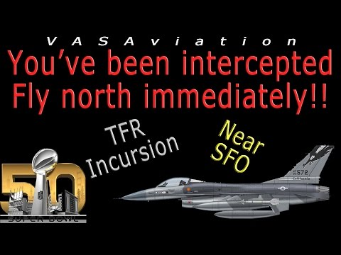 watch [REAL ATC] Aircraft INTERCEPTED by MILITARY F-16 at SUPER BOWL!!