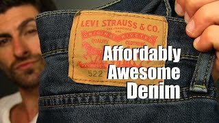 Affordably Awesome Denim Under $50 dollars   Levis 522 Jeans Review