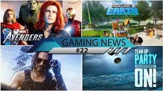GAMING NEWS #22 - Avengers A Day, Cyberpunk 2077, Pubg Mobile 0.13.5, COD Modern Warfare, Minecraft