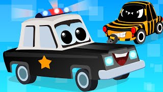 Cars Cartoons - Zeek And Friends | Police Car Song | vehicle songs