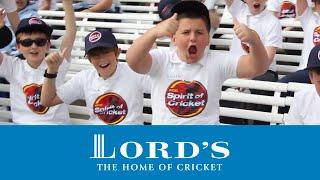 School children take over Lord's | Spirit of Cricket