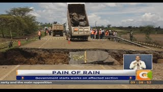 Flood waters cut off section of Narok -Mai Mahiu road