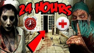(GONE WRONG) 24 HOUR OVERNIGHT CHALLENGE AT HAUNTED HOSPITAL | CHASED BY SECURITY!