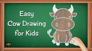Easy Cow Drawing for Kids | Kids Learning Video | Shemaroo Kids