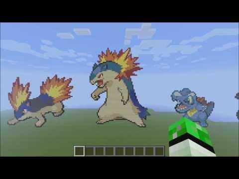 Minecraft Pokemon Pixel Art Johto 251 Download Playithub