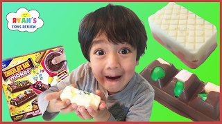 CHOCOLATE CANDY BAR MAKER TOY DIY sweet treats for kids taste test Real Food Marshmallow