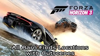 Forza Horizon 3 [PC/Xbox One] - All Barn Finds Locations with Cutscenes