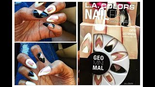 "L.A. COLORS ""GeoMinimal"" Stiletto Artificial Nails 