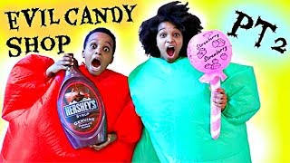 Bad Baby EVIL Candy Shop! - Greedy Granny In Real Life PART 2 - Shiloh and Shasha Onyx Kids