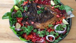 Masgouf - Grilled Fish - Iraqi Food - Grill Fish - Maskoof - Masgoof - Catla -