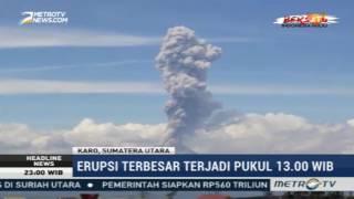 berita 04 februari 2017-Gunung Sinabung Empat Kali Erupsi dalam Sehari