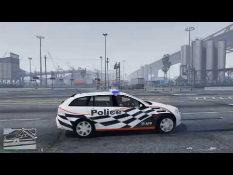 GTA V - LSPDFR Australia - Port of LS Patrol - Car Of Many Sirens!