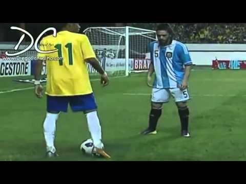 Neymar 2012 Super Football Skills Brasil Vs Argentina .
