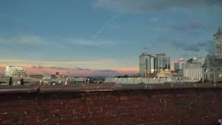 Nashville Tenn. The Gulch Total Solar Eclipse Rooftop video Aug. 21 2017. Includes shadow bands.