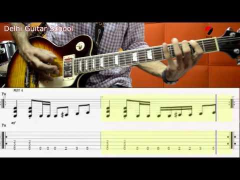 Zinda -  riffs and solo video tab  - Delhi Guitar School