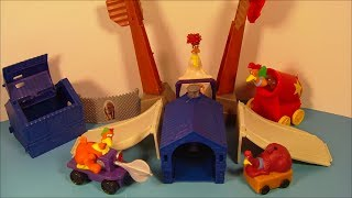 2000 CHICKEN RUN SET OF 4 BURGER KING KID'S MEAL MOVIE TOY'S VIDEO REVIEW