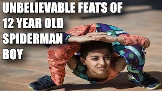 UNBELIEVABLE FEATS OF 12 YEAR OLD SPIDERMAN BOY