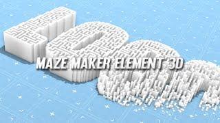 Maze Maker Element 3D | After Effects template